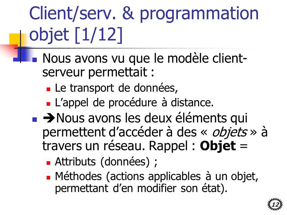 Client/serv. & programmation objet [1/12]